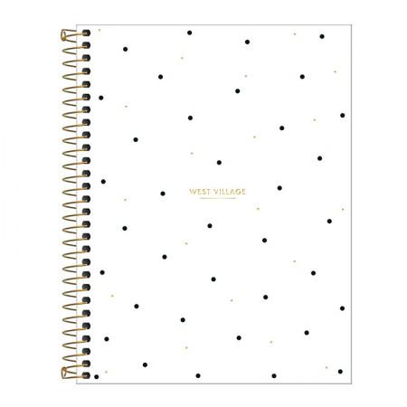 Caderno colegial capa dura 10x1 - 160 folhas - West Village - 1 - Tilibra
