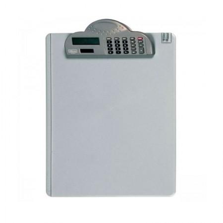Prancheta em acrílico com calculadora e prendedor de plástico - Tilibra
