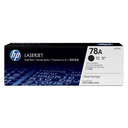 Toner HP Original (78A) CE278AE - preto 2100 páginas - com 2 unidades