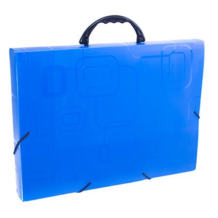Maleta com alça Dellofine ofício - azul - 2152.C - Dello