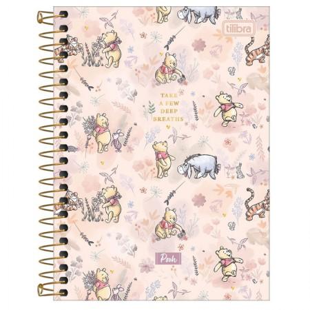 Caderneta espiral capa dura 1/8 - 80 folhas - Pooh - Capa 4 - Tilibra