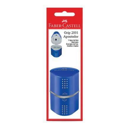 Apontador com coletor azul Grip 2001 - SM/MIXGRIPAPO - com 1 unidade - Faber-Castell