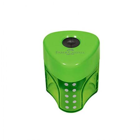 Apontador com coletor mini Grip 2001 - SM/MGRIP - com 1 unidade - Verde - Faber-Castell
