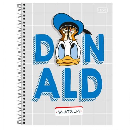 Caderno espiral capa dura universitário 1x1 - 80 folhas - Donald - Capa 4 - Tilibra