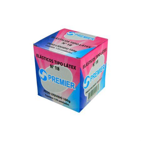 Elástico látex NR 18 Amarelo - caixa com 100g - Premier
