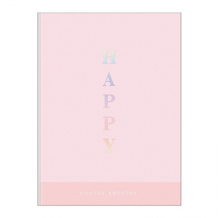 Caderno brochura capa dura 1/4 - 80 folhas - Happy - Rosa pastel - Tilibra