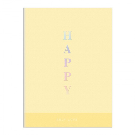 Caderno brochura capa dura 1/4 - 80 folhas - Happy - Azul pastel - Tilibra