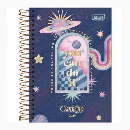 Agenda espiral diária Capricho 2021 - Paradise - Tilibra