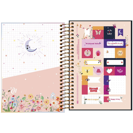 Agenda espiral diária Capricho 2020 - She Loves Adventure - Tilibra