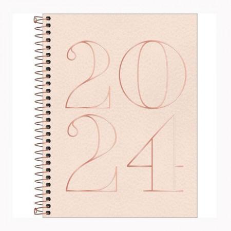 Agenda espiral diária Vanila 2021 - Capa 1 - Tilibra