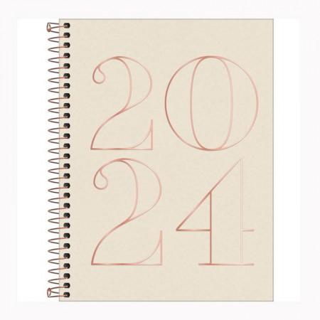 Agenda espiral diária Vanila 2021 - Capa 2 - Tilibra