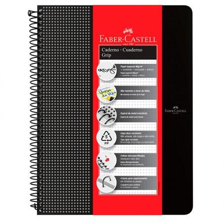 Caderno grip pautado A4 - 80 folhas - preto - CDNOFF/PR - Faber-Castell