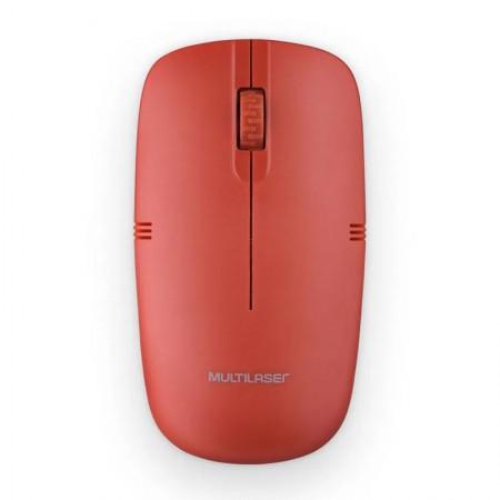 Mouse sem fio 2.4GHZ vermelho - MO289 - Multilaser