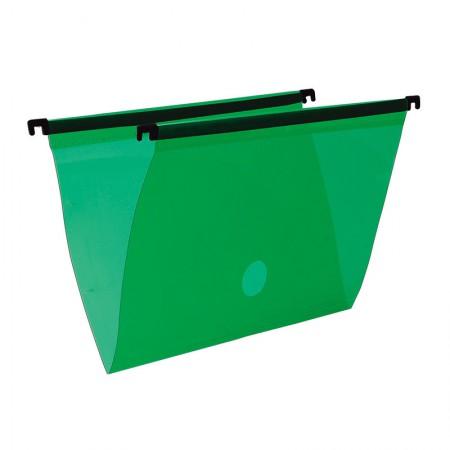 Pasta suspensa transparente - verde - 0005.T - Dello