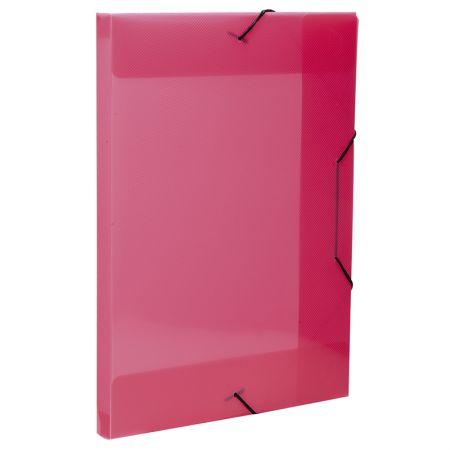 Pasta com aba elástico transparente ofício 20mm - rosa - 0234.Q - Dello