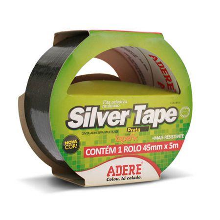 Fita multiuso Silver Tape preta 45X5 - Adere