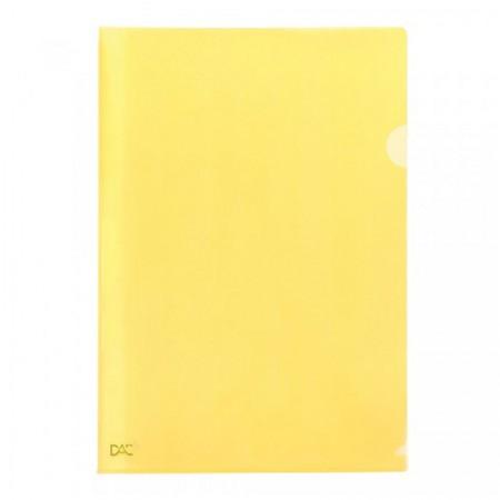 Pasta em L ofício Amarelo - 041PP-AM - pacote com 10 unidades - Dac