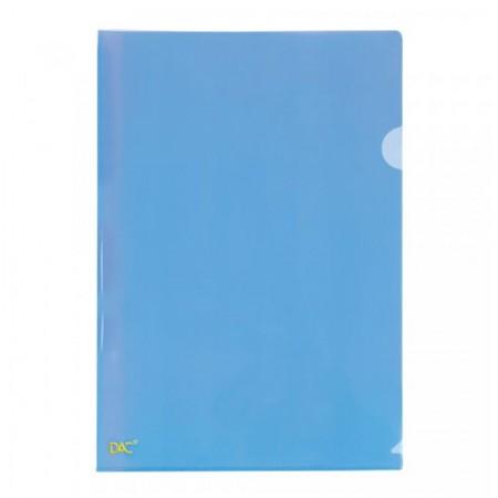 Pasta em L ofício Azul - 041PP-AZ - pacote com 10 unidades - Dac