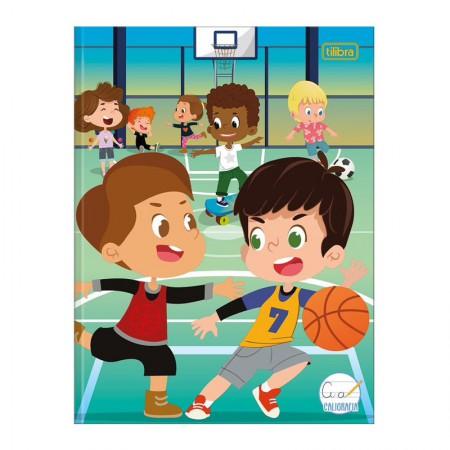 Caderno brochura capa dura caligrafia Masculino - 40 folhas - Sapeca - Casa na Árvore - Tilibra