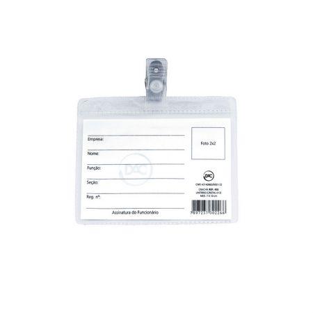 Crachá Plástico com prendedor horizontal 100X70mm - 450 - Dac