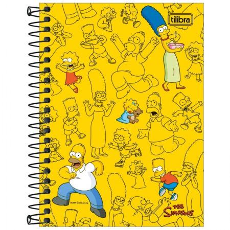 Caderneta espiral capa dura 1/8 - 80 folhas - Simpsons - Capa 4 - Tilibra
