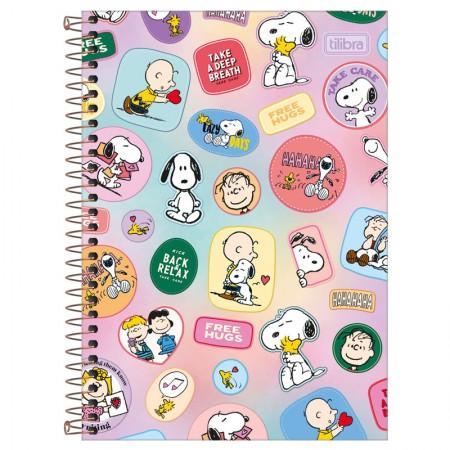 Caderno espiral capa dura 1/4 - 80 folhas - Snoopy - Capa 1 - Tilibra