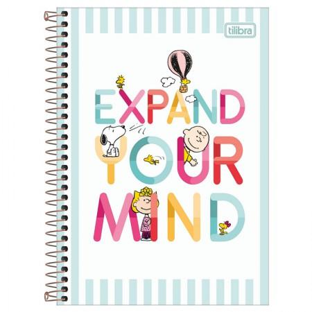 Caderno espiral capa dura 1/4 - 80 folhas - Snoopy - Capa 2 - Tilibra
