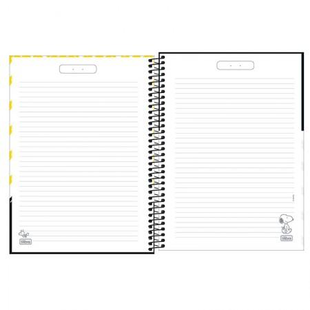 Caderno espiral capa dura 1/4 - 80 folhas - Snoopy - Capa 3 - Tilibra