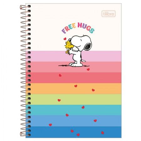 Caderno espiral capa dura 1/4 - 80 folhas - Snoopy - Capa 4 - Tilibra