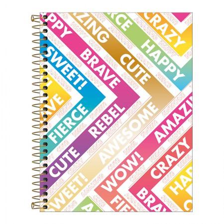 Caderno colegial capa dura 1x1 - 80 folhas - Be Nice - Capa 1 - Tilibra