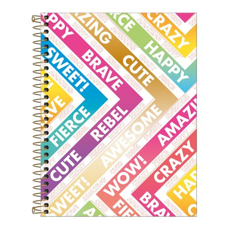 Caderno colegial capa dura 10x1 - 160 folhas - Be Nice - Capa 1 - Tilibra