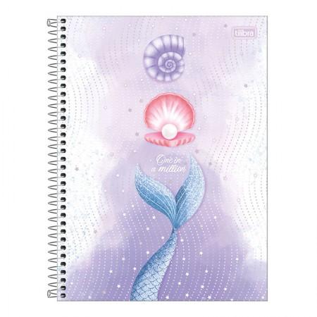 Caderno espiral capa dura universitário 10x1 - 160 folhas - Wonder Sereia - Capa 3 - Tilibra