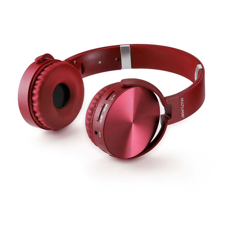 HEADPHONE PREMIUM BT/SD/FM VERMELHO - PH266
