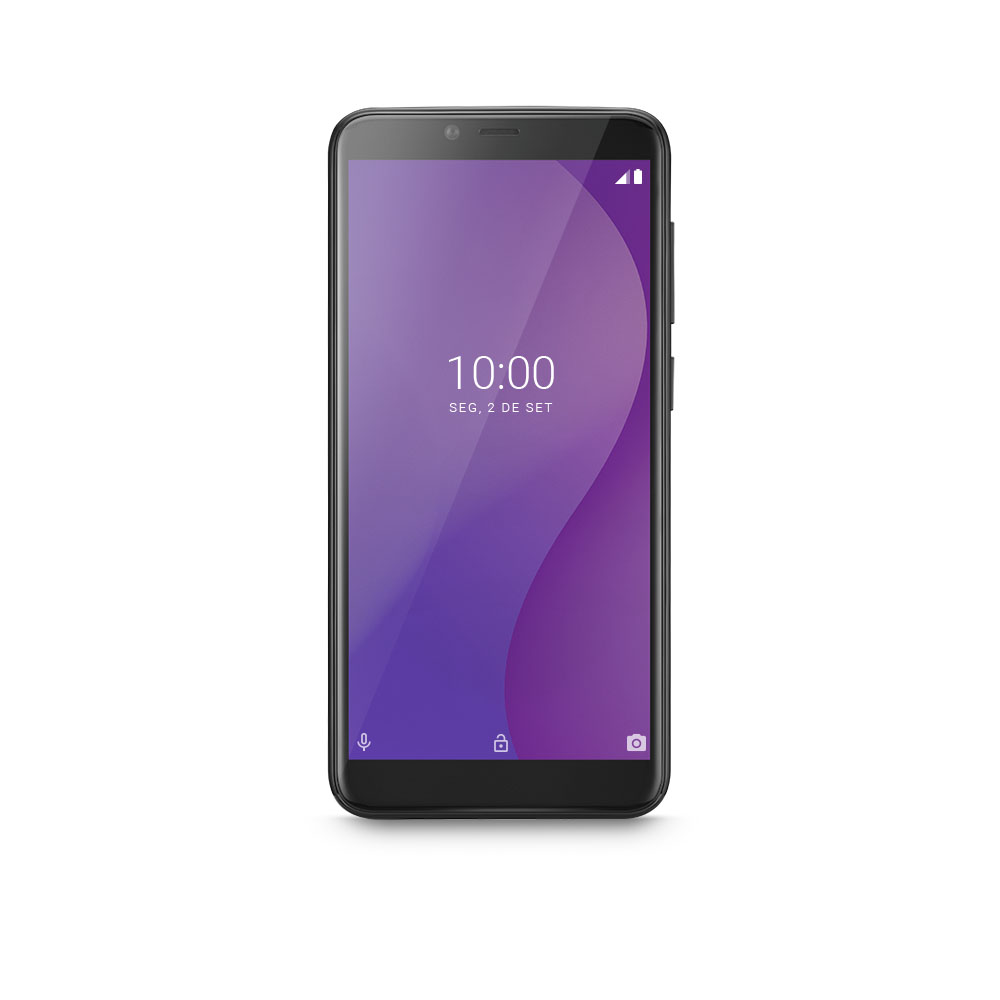 Smartphone Multilaser G 32GB Preto Tela 5.5 Pol. Processador Octa Core 4G Sensor de Digitais Android 9.0 GO - P9132