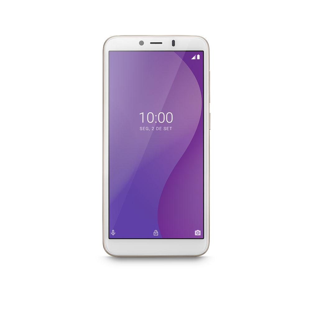 Smartphone Multilaser G 32GB Dourado Tela 5.5 Pol. Processador Octa Core 4G Sensor de Digitais Android 9.0 GO - P9133