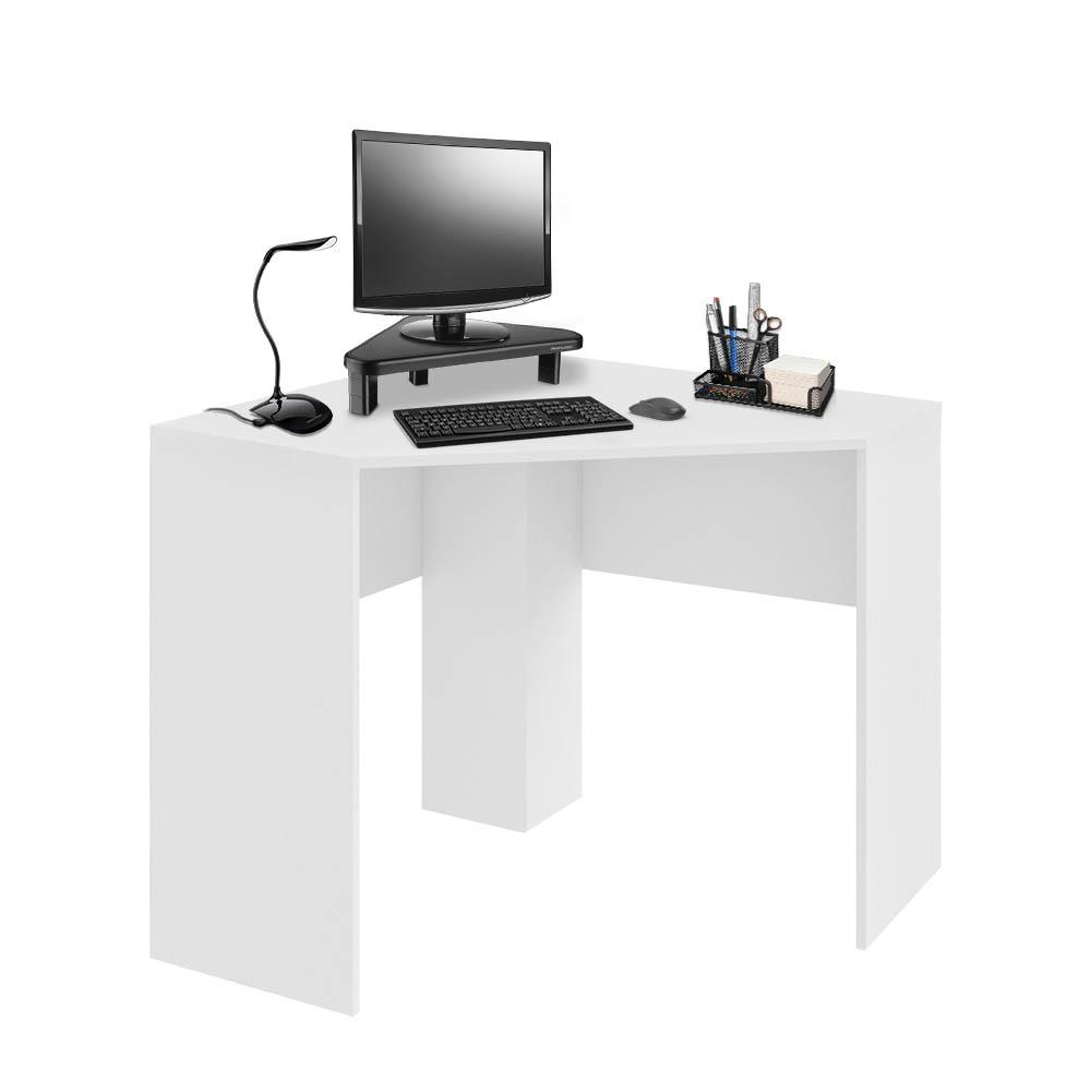 Mesa de Canto para Computador 90x90cm Branco Fosco - EI076