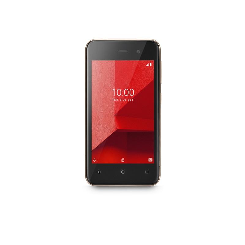Smartphone Multilaser E Lite 32GB Dourado Tela 4.0 Pol. 3G Quad Core Camera traseira 5MP + 5MP frontal - P9127