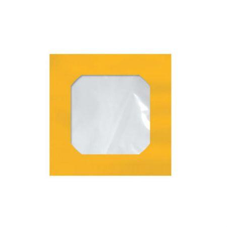 Envelope saco c/janela p/CD laranja 125x125mm blister 25und Scrity