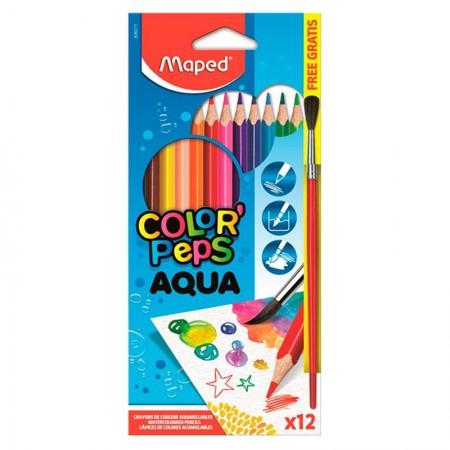 Lápis de cor Color Peps 12 cores - aquarelável - 836011 - Maped
