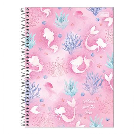 Caderno espiral capa dura universitário 1x1 - 80 folhas - Wonder Sereia - Capa 1 - Tilibra