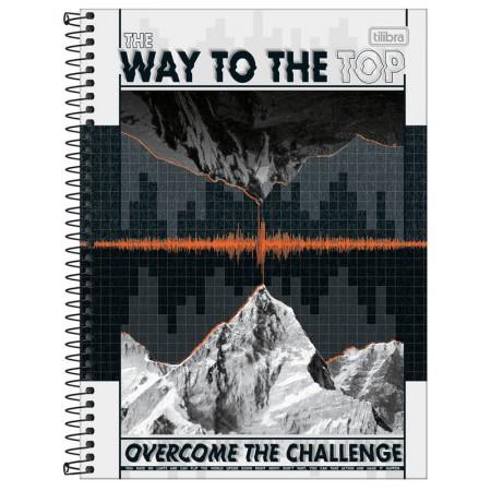Caderno espiral capa dura universitário 1x1 - 80 folhas - Up - Breathe - Tilibra