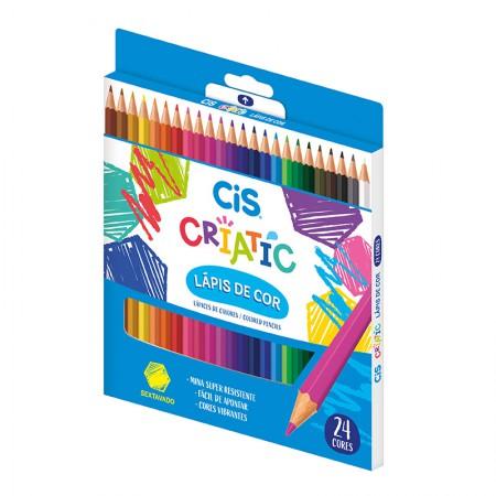 Lápis de cor Criatic 24 cores - 60.0402 - Cis