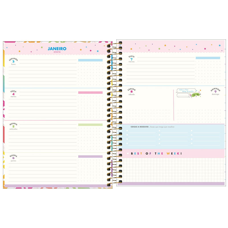 Agenda planner espiral semanal Be Nice 2022 - Capa 1 - Tilibra