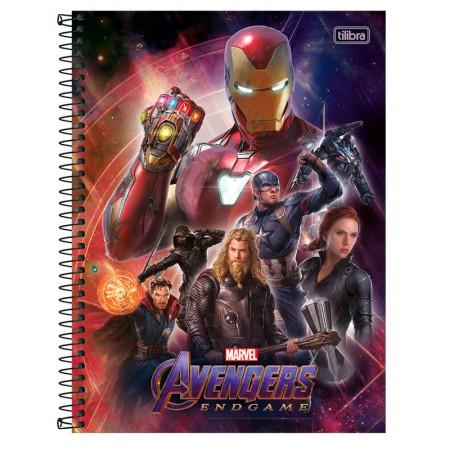 Caderno espiral capa dura universitário 10x1 - 160 folhas - Vingadores Últimato - Capa 3 -  Tilibra