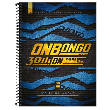 Caderno espiral capa dura universitário 1x1 - 80 folhas - Onbongo - Capa 6 - Tilibra