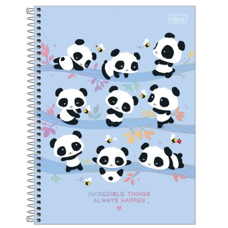 Caderno espiral capa dura universitário 10x1 - 160 folhas - Lovely Friend - Capa 2 - Tilibra