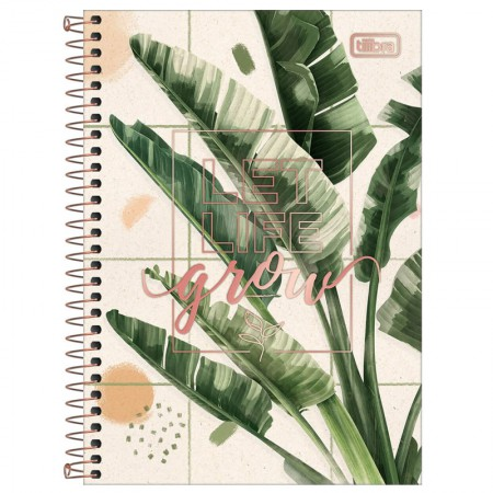 Caderno espiral capa dura 1/4 - 80 Folhas - Naturalis - Capa 2 - Tilibra