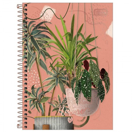 Caderno espiral capa dura 1/4 - 80 Folhas - Naturalis - Capa 3 - Tilibra