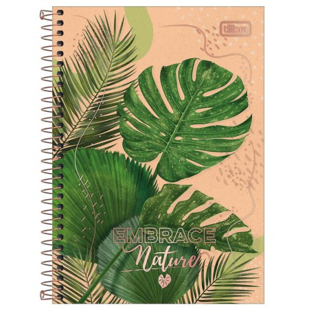 Caderno espiral capa dura 1/4 - 80 Folhas - Naturalis - Capa 4 - Tilibra