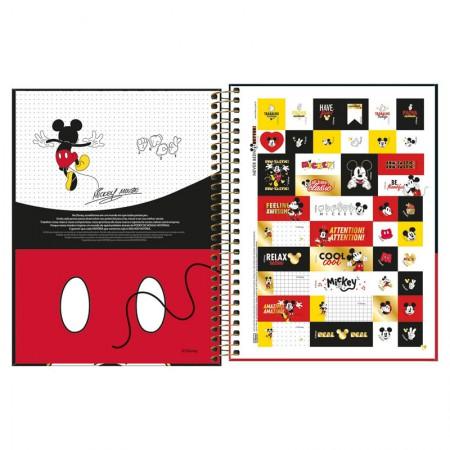 Caderno colegial capa dura 1x1 - 80 folhas - Mickey - Capa 1 - Tilibra